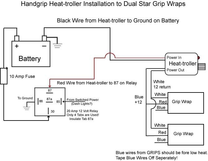 Harley Heated Grips Wiring Diagram on heated grip repair, heated grips relay connecting to, heated grip wire phazer ll,